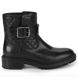 New Aquatalia Luana Black Quilted Boots 6.5